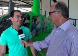 Helicóptero registra imagens há uma distancia de 5 KM – Entrevista com o piloto Ricardo Malaguti