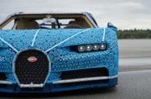 Bugatti feito de peças de Lego chega a 20 km/h