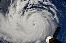 Imagens do furacão Florence visto de cima são divulgadas pela Nasa