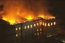 museu Histórico Nacional pega fogo na Quinta da Boa Vista