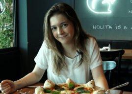 Manoela Torres e a pizza que dá água na boca