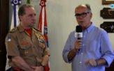 Comandante do Corpo do Bombeiros em uma entrevista exclusiva ao repórter Aroldo Machado