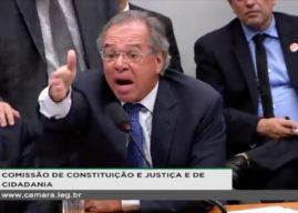 Tumulto na Comissão de Constituição e Justiça da Câmara com Paulo Guedes