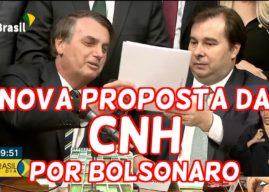 Bolsonaro entrega à câmara projeto que muda as regras da CNH