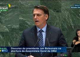 Bolsonaro faz discurso duro na ONU e ataca o Socialismo