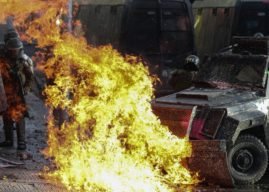 Chile em chamas – Imagens fortes
